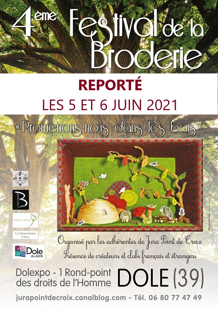 Festival de la broderie dole juin 2021