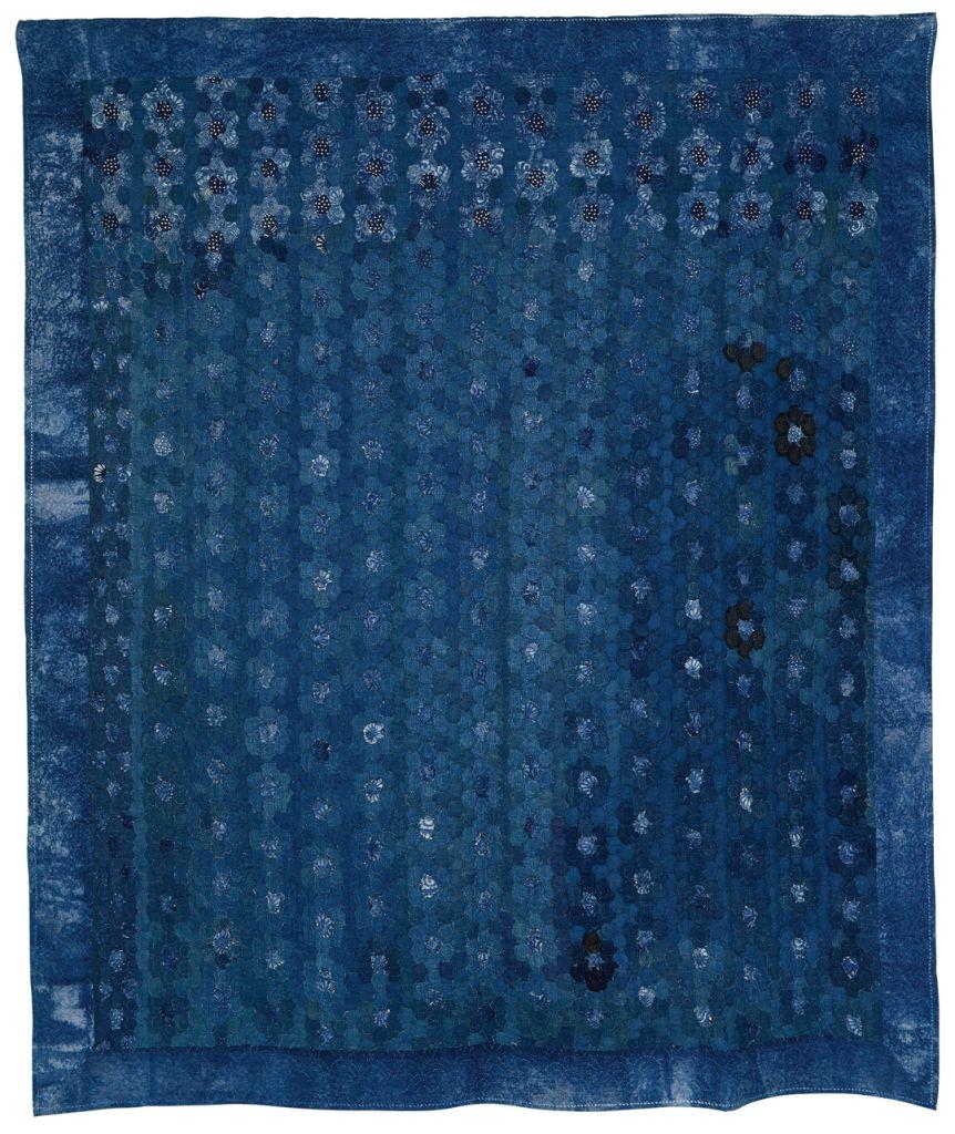 quilt fleurs indigo -Katsue-horii
