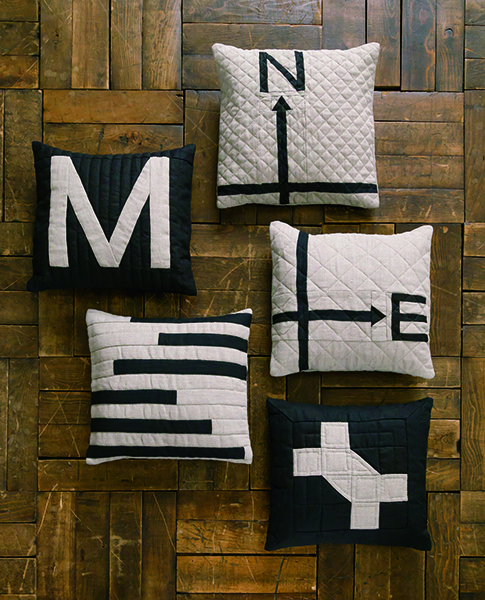 Mitsuyo Takasaki-Modern quilted cushions-Urban Quilts-Suzuko Koseki