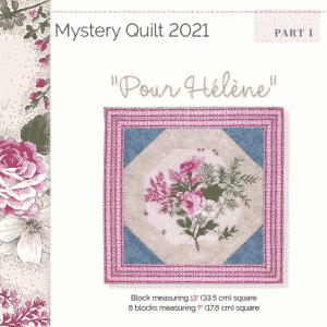 2021 Mystery Quilt Pour Hélène part 1 GB
