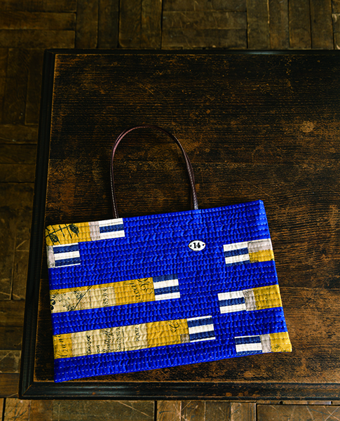 Flat quilted tote bag for A4-Urban Quilts-Suzuko Koseki