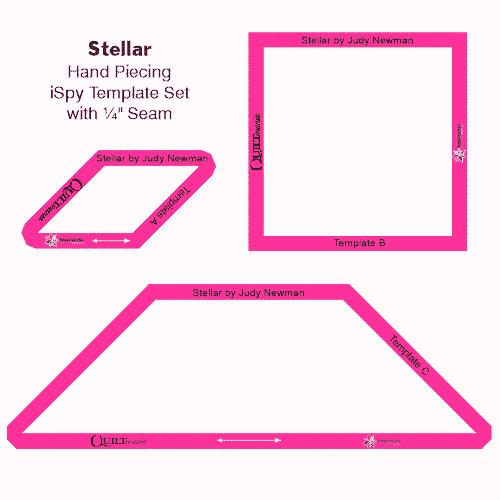 Stellar quilt template set Judy Newman