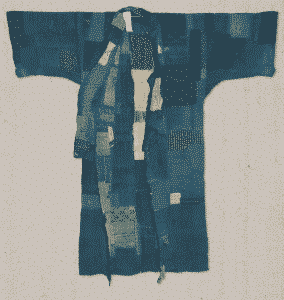 kimono indigo boro - nukata
