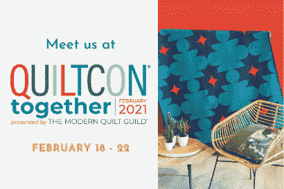 banner quiltcon quiltmania 2021