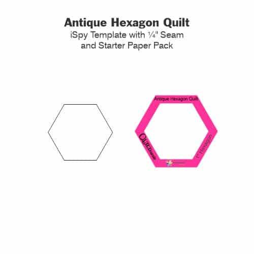 Antique Hexagon Quilt Laminate Tile-Petra-Prins-gabarits-templates