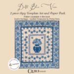 Delft Blue Vase Card Sleeve-Petra-Prins-gabarits-templates