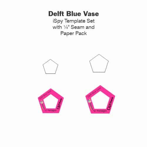 Delft Blue Vase Laminate Tile-Petra-Prins-gabarits-templates