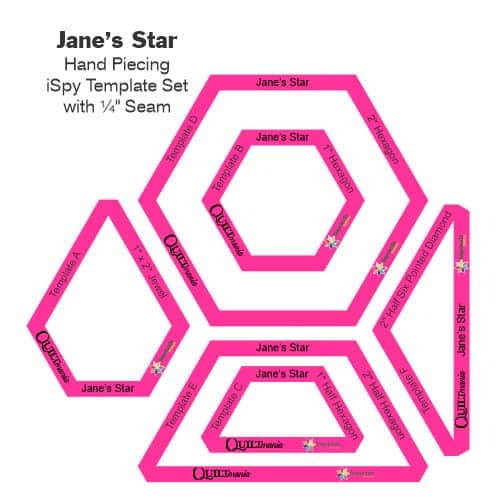 Jane's Stars Laminate Tile-Petra-Prins-gabarits-templates
