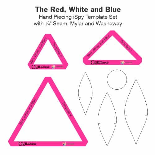 The Red, White and Blue Laminate Tile-Petra-Prins-gabarits-templates