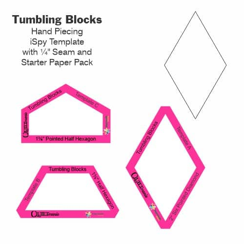 Tumbling Blocks Laminate Tile-Petra-Prins-gabarits-templates