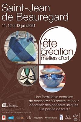 Affiche fete de la création et des métiers d'art 2021