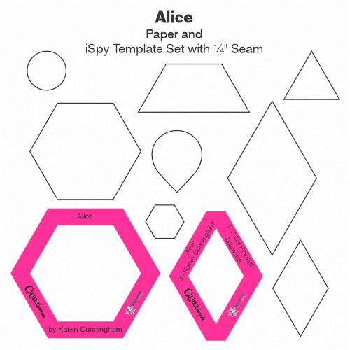 set templates quilt alice