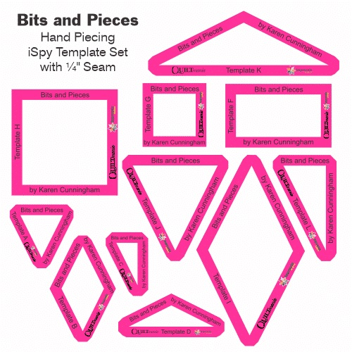 set templates quilt bits and pieces