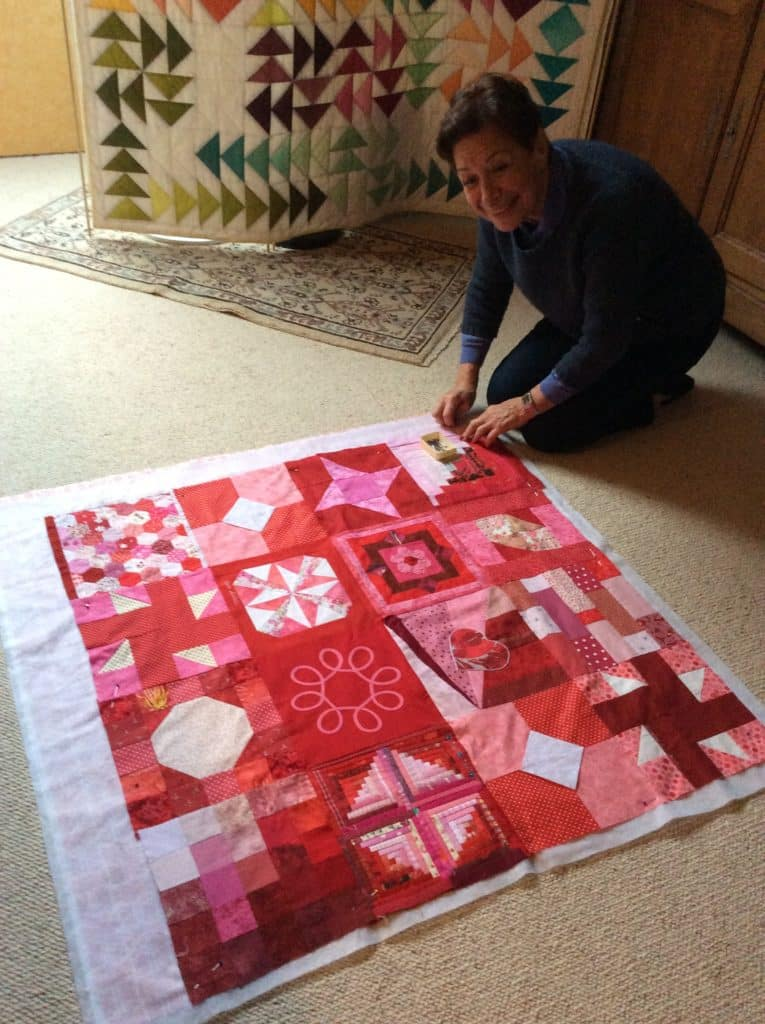marie-france making quilt