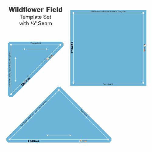 Wildflower Field set gabarits acrylique