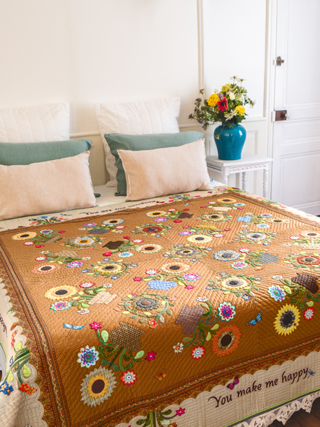You Are My Sunshine quilt Suzanne Louth 182-x-182-cm