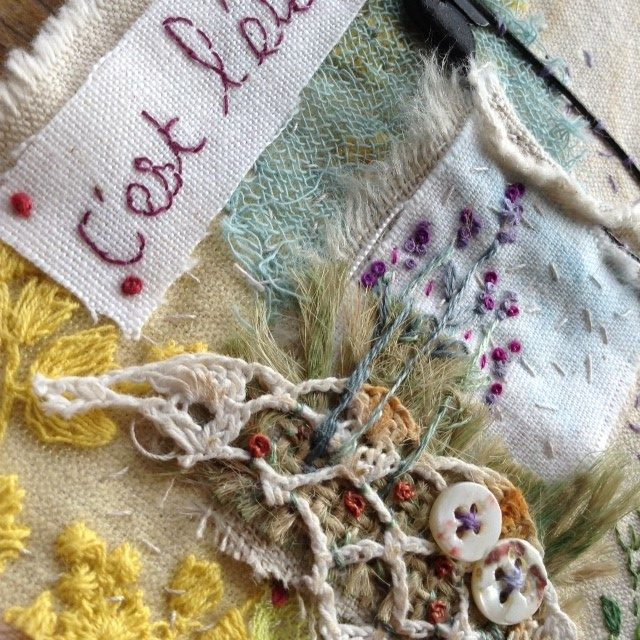 embroidery project Béa