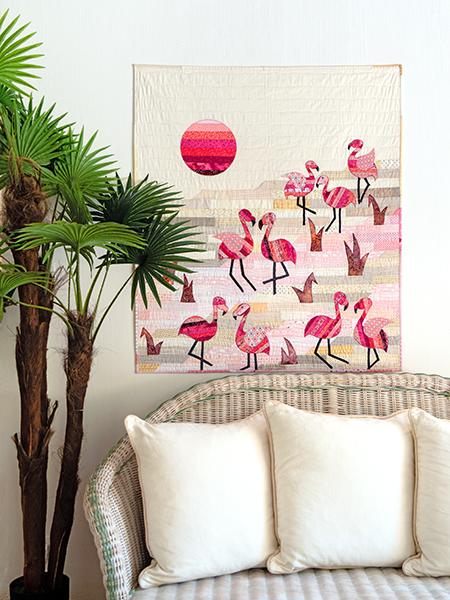 Flamants roses quilt - Anne-Marie Saudo
