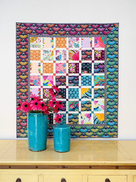 Hindsight charm quilt - Mieke Duyck