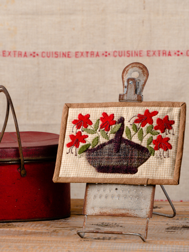panneau Basket of flowers - Mindy Smith