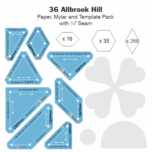 36 Allbrook Hill Acrylic, Paper and Mylar Tile