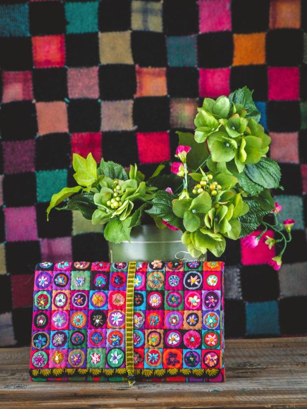 Pochette mini cercles fleuris