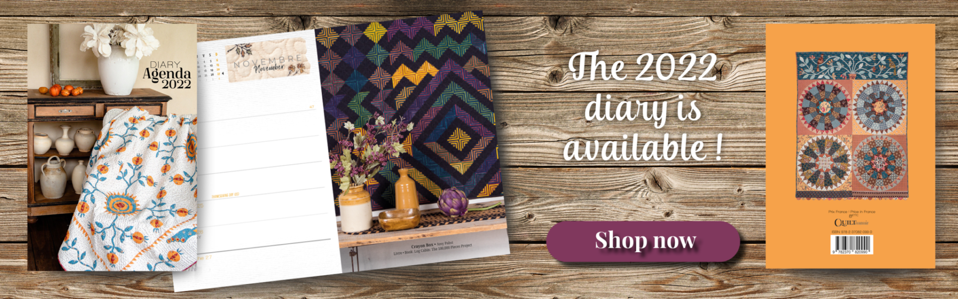 Quiltmania Diary 2022 banner