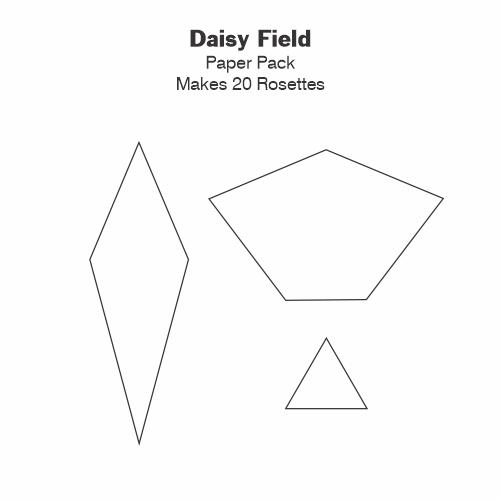 Daisy Field gabarits papier