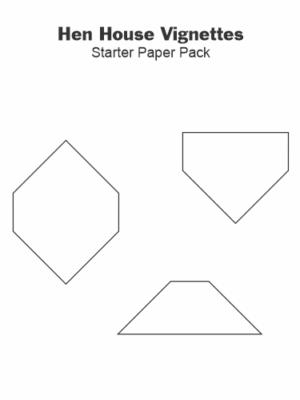 Gabarits Papier Hen House Vignettes