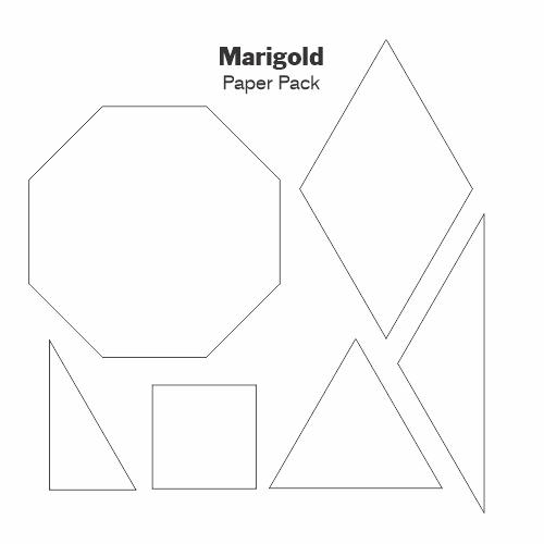 Gabarits Papier Marigold