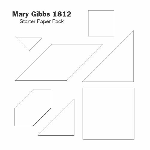 Mary Gibbs 1812 gabarit papier