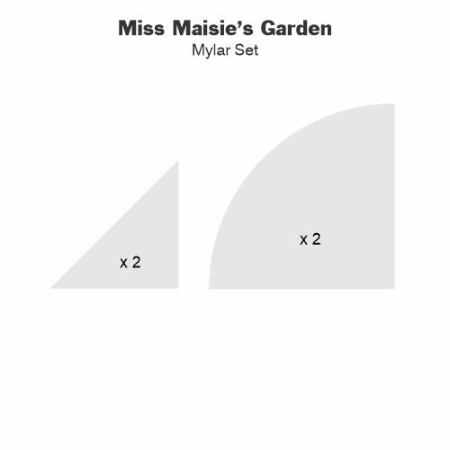 Miss Maisie's Garden Mylar Tile