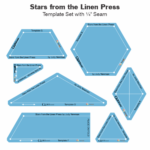 Stars from the Linen Press Acrylic Tile