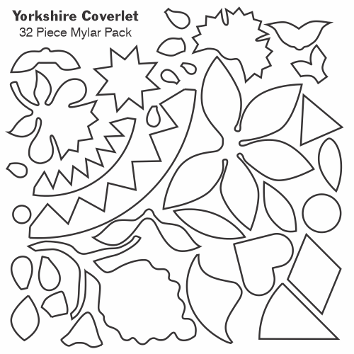 Yorkshire Coverlet gabarits mylar