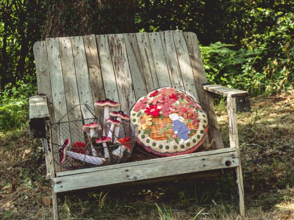 Autumn Flowers Bunny Cushion - Simply Vintage 40