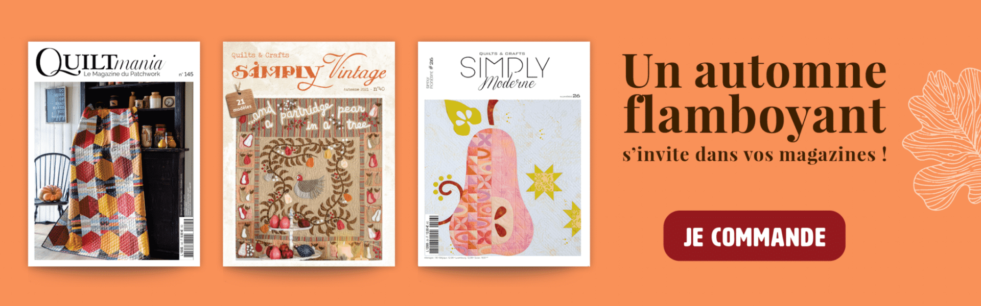 Magazines quiltmania automne