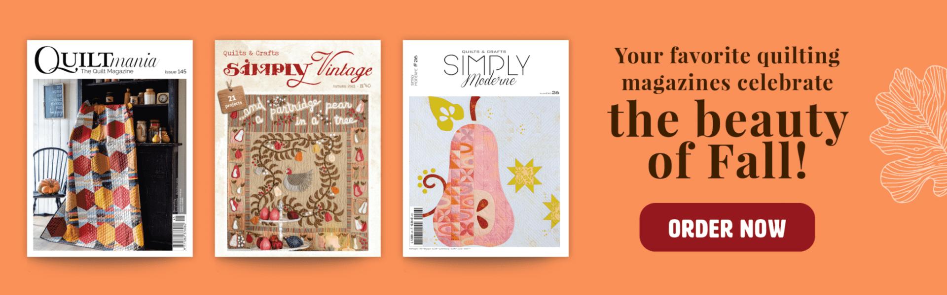 Magazines quiltmania autumne