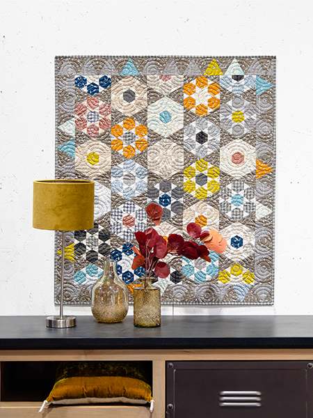 Shimmering Stones quilt - Mieke Duyck