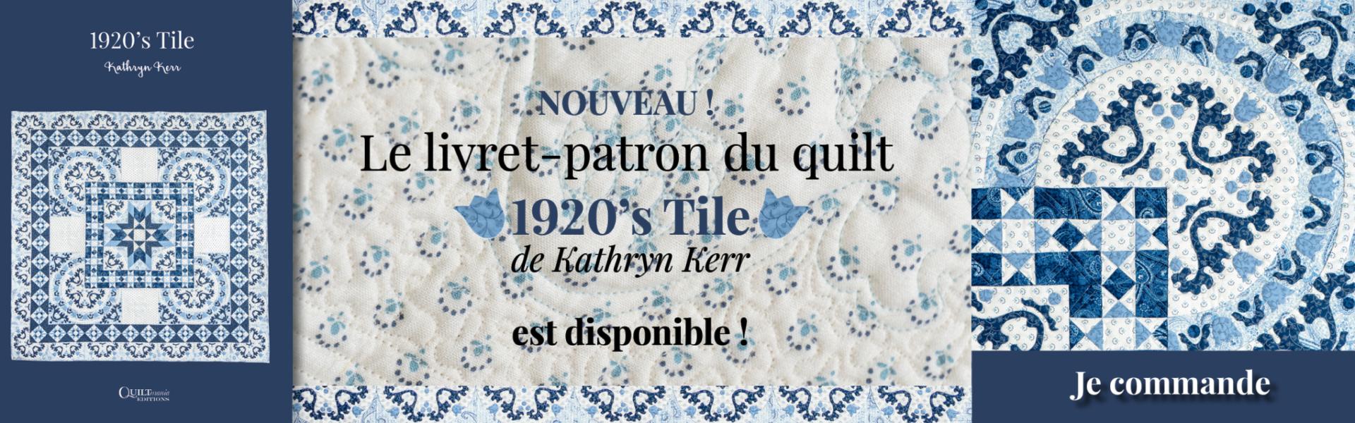 Banniere patron 1920s Tile Kathryn Kerr