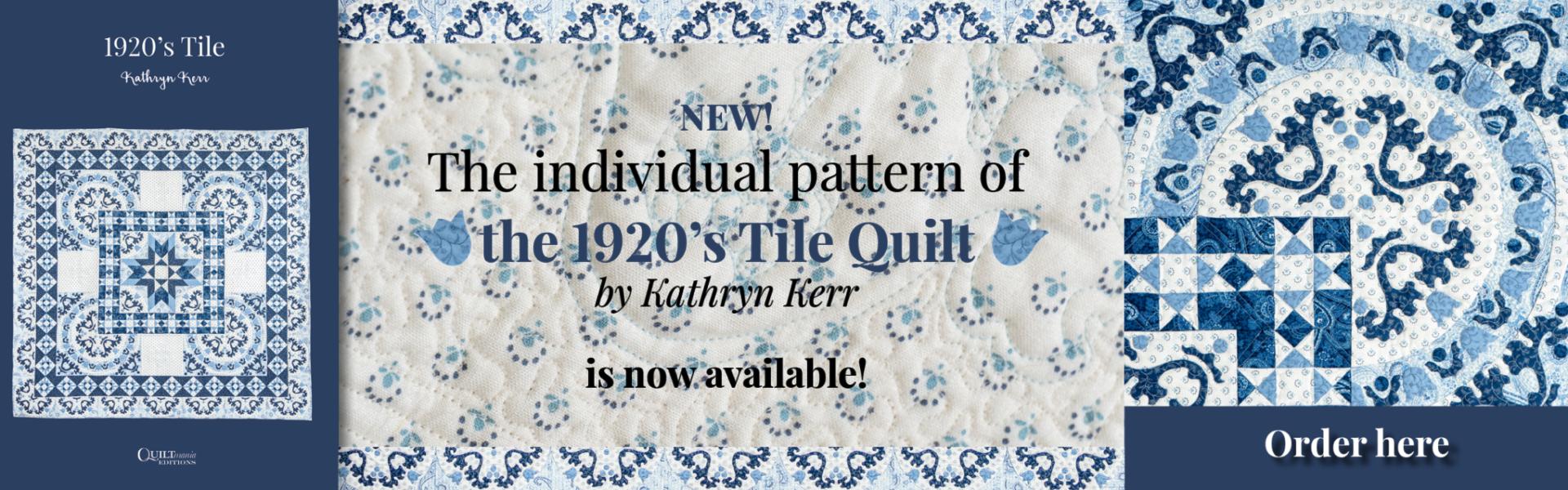 Banner pattern 1920s Tile Kathryn Kerr
